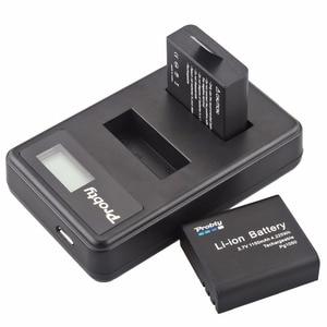 Image 5 - 4 個 PG1050 SJ4000 PG900 バッテリー + usb 液晶デュアル充電器 sjcam SJ5000 SJ6000 SJ8000 M10 eken 4 18k h8 H9 GIT LB101 git バッテリー