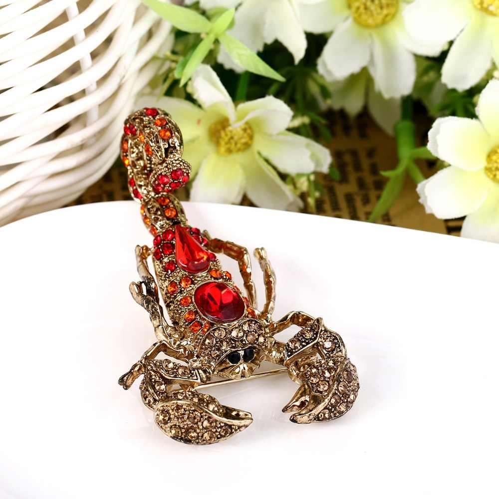 Tuliper брошь עקרב בעלי החיים חרקים סיכת סיכות ריינסטון האוסטרי קריסטל סיכות לנשים המפלגה תכשיטי מתנה