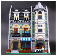 LEPIN 15008 2462Pcs Genuine New City Street Green Grocer Model Building Kit Blocks Bricks Funny Toy