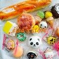 Squishies 10 unids mezclado kawaii panda raro puff donut jumbo blandita almohada mano correa del encanto para el teléfono celular del Envío gratis