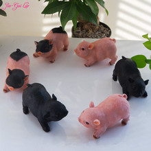 JIA-GUI LUO Creative pig ornaments simulation animal home living room decorations gifts resin crafts sculpture B001