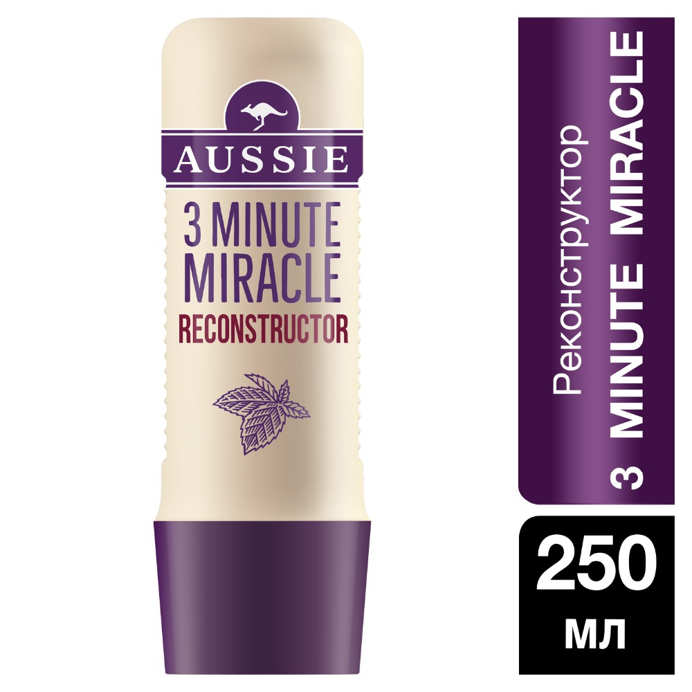AUSSIE Hair Reconstructor 3 Minute Miracle 250ml british aussie miracle natural plant conditioner 250ml moisturizing aussie miracle moist conditioner for dry