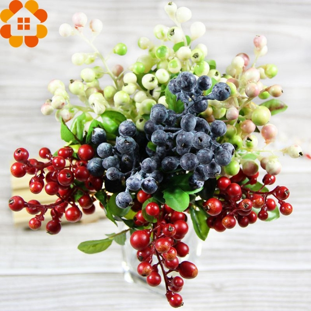 Buy 4 color 10pcs decorative blueberry for Artificial fruits for decoration
