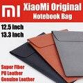 Mi saco luva do portátil caso de fibra original pu bolsa em couro genuíno para macbook air de 11/12 polegadas para xiaomi mi notebook ar 12.5 13.3