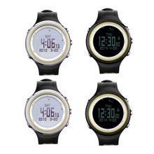 0900e5fc9ec9 Retroiluminada impermeable multifuncional SUNROAD hombre mujer tiempo  Forcast podómetro cronómetro reloj deportivo al aire libre(