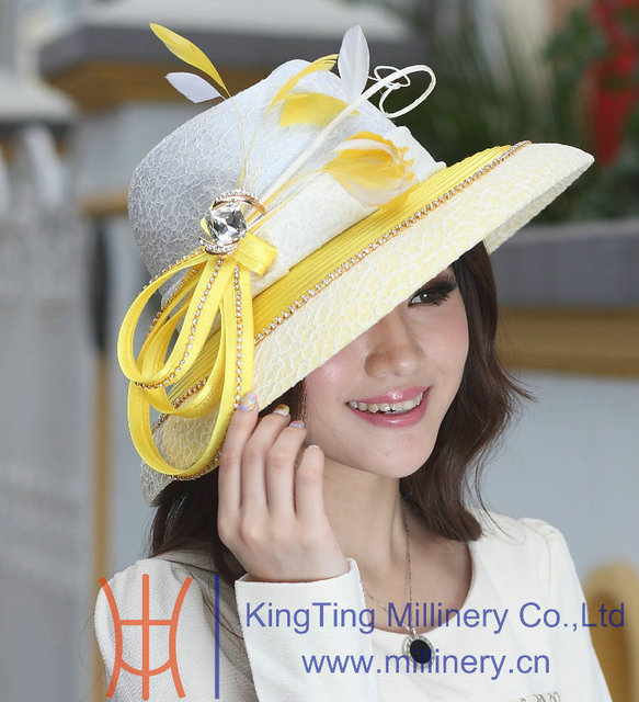1a10189acc1 Free Shipping Fashion New Winter Hat Elegant Women Hats Satin Dress Hat Big  Brim Smooth Dome Design Ladies  100% Polyester Made
