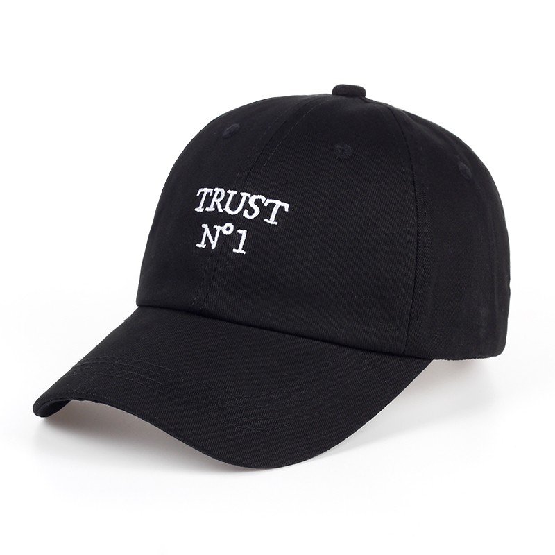 2017 new Trust No1 Dad cap men women fashion Baseball Cap Unconstructed Hip hop snapback hats Truck driver hat 2017 new fashion snapback cap flat brimmed hat brim hat wild personality hip hop hats for men women