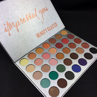 Beauty Glazed New Smoky Color Pigments Warm Cold Matte Eyeshadow Palette Makeup Waterproof Shimmer Brand Eye