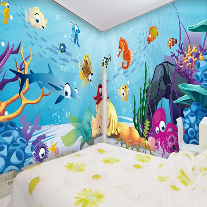 Kustom foto wallpaper Kartun wallpaper kamar anak anak