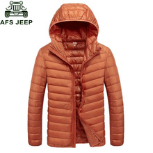 Afs Jeep 2017 Brand New Mens Down Parka Jackets And Coats Casual Hooded Collar Lightweight Windbreaker Warm Solid Down Coat Male