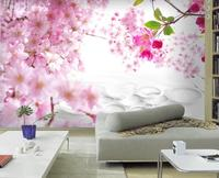wall papers home decor designers Modern fashion beautiful peach family 3D TV background wall