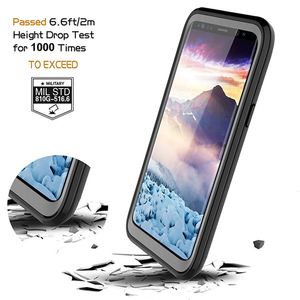 Водонепроницаемый чехол на 360 градусов для Samsung S9 S9Plus, чехлы для Samsung Galaxy S8 S8Plus, противоударный прозрачный чехол-бампер
