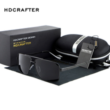 2016 HDCRAFTER Fashion Men's UV400 Polarized coating Sunglasses men Driving Mirrors oculos Eyewear Sun Glasses for Man with Box  стоимость