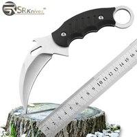 Karambit Knife CF CS Folding Camping Hunting Knife 420J2 Blade Steel Knife G10 Handle Survival Knives