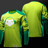 2017 Blizzard Game OW Cotton Long Sleeve T Shirt Lucio Reaper Soldier76 Genji T Shirts Mens