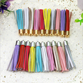 65mm Mix Colors Tassel Fashion Borlas 100Pcs Pendants For Earrings Making Suede Tassels For Jewelry Diy Keychain Charms Pingente
