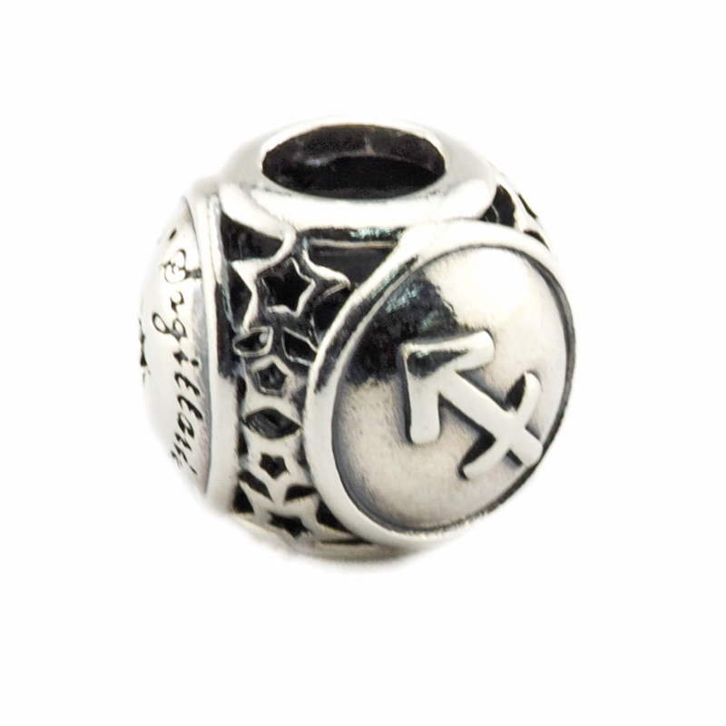 DIY Beads for Jewelry Making Sterling-Silver-Jewelry Sagittarius Star Sign Bead Charms Silver 925 Berloque Perles Women