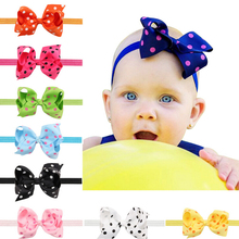 1PC Girls Big Bows Infant Baby Flower Headband  Hair Elastic Headbands Bows Hair band kids Children Fabric Accessories  w–005