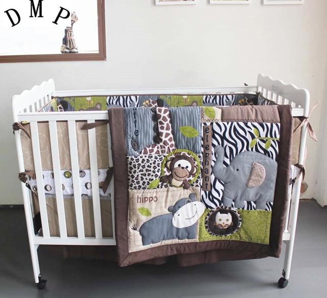 Förderung 7 Stücke Stickerei Bettwäsche Babybett Krippe Bettwäsche