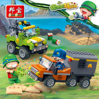 Banbao PowpowBing Caisson SUV Transport vehicle soldiers Building blocks Educational Toy Military models Bricks for boy children