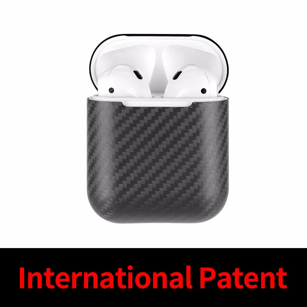 Mcase For Apple AirPods 100 Real Carbon Fiber Case Ultra Thin Wireless Headset EarPhone Case Free