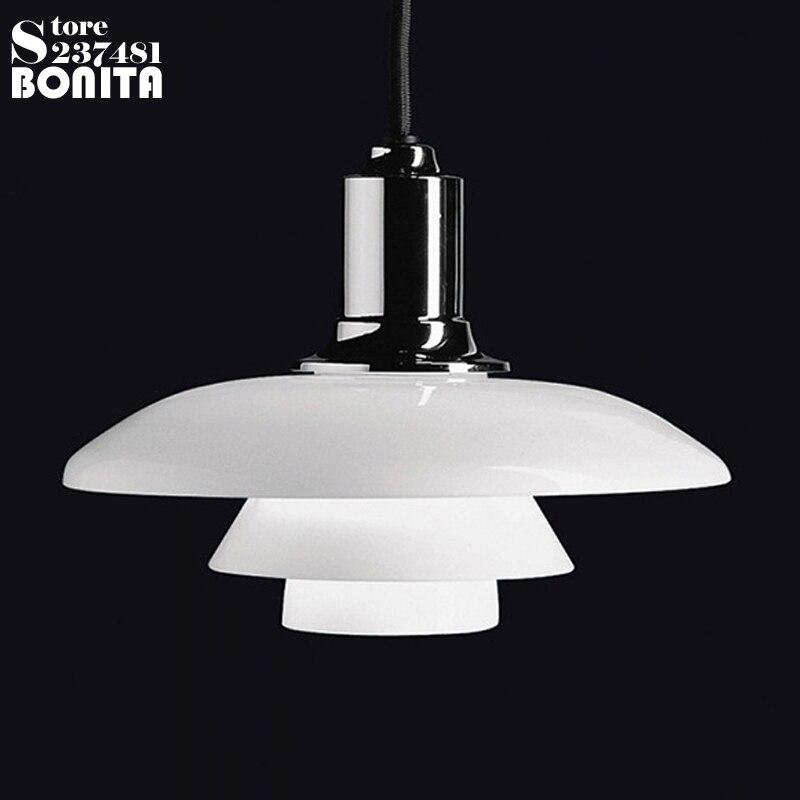 Pendentif laiteux éclairage verre danemark design lampe pendentif éclairage pour restaurants chambre