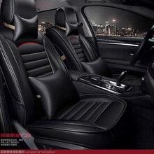for FIAT Idea Sedici Panda Ottimo C-Medium Palio Punto brand black leather car seat cover front and back Complete cushion
