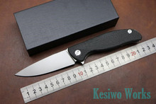 Kesiwo Quality EDC folding knife Hati 95 bearing  D2 blade Carbon fiber Titanium Alloy camping hunting outdoor utility knife