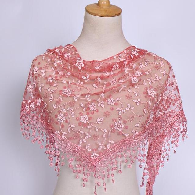 Summer Hijab Lady Lace Silk...