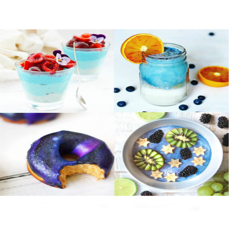 100/250g Organic Blue Butterfly Pea Flower Powder for Natural Food Coloring  for Cake, Cookie, Food Dyeing