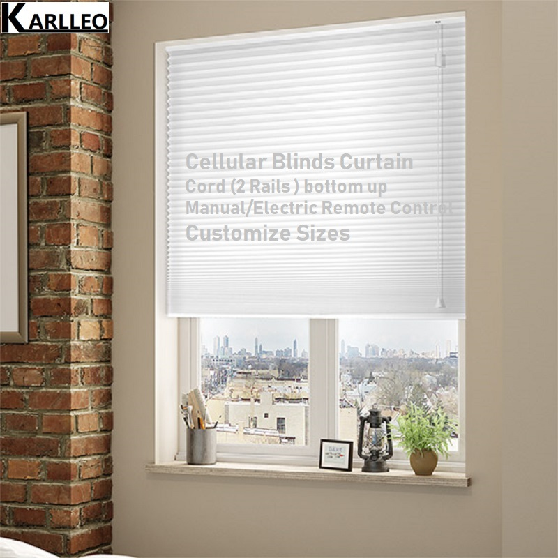 Blackout Cellular Honeycomb Blinds Shades Curtain Cord bottom up Customize Sizes Finished Product