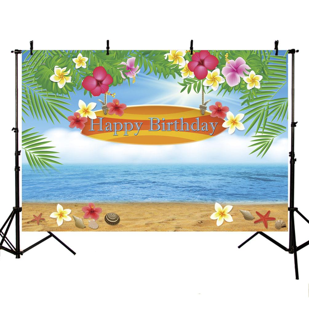Photography Backdrop Beach Sky Blue Sea Pink Flower Photography Background Wedding Birthday Customized Banner Photo Background Background Aliexpress