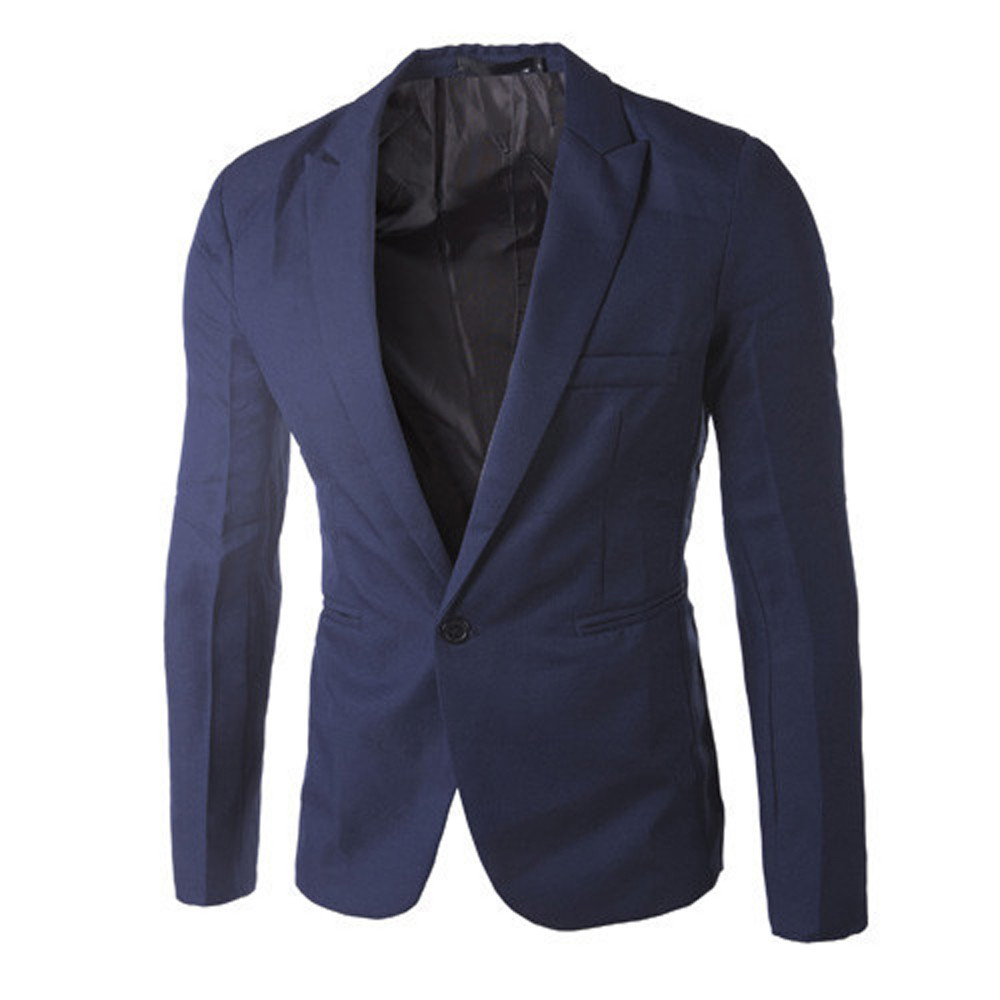 Suit Jacket Costume Blazer Solid Masculin Terno Slim-Fit Homme D90509 Men