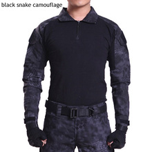 Top quality 2019 outdoors spring autumn military fight combat camouflage sleeve stretch Frogman cargo commando tees tshirts men