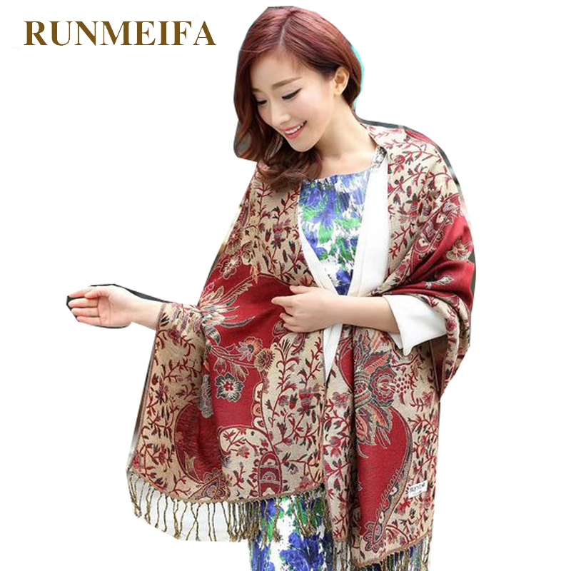 RUNMEIFA Large Size 2019 New Fashion Women's Pashmina   Scarf     Wrap   Shawl Winter female Stole   Scarves   bufandas invierno mujer