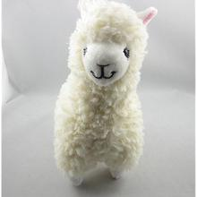 Cute Alpaca Llama Plush Toy Creamy White Japan Animal Children Doll 23cm High kids