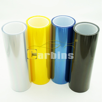 0.3*10m 10 rolls High glossy auto light film , car headlight taillight vinyl wrap film , vehicle lamp changing color sticker