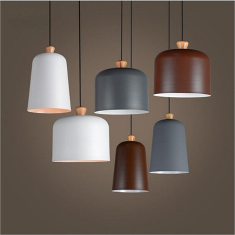 LukLoy Modern Simple LED Pendant Lamps Wooden Pendant Lights Cafe Foyer Bedroom Bar Hanging Light Drop Lighting Fixtures Ceiling bloomingville блюдо