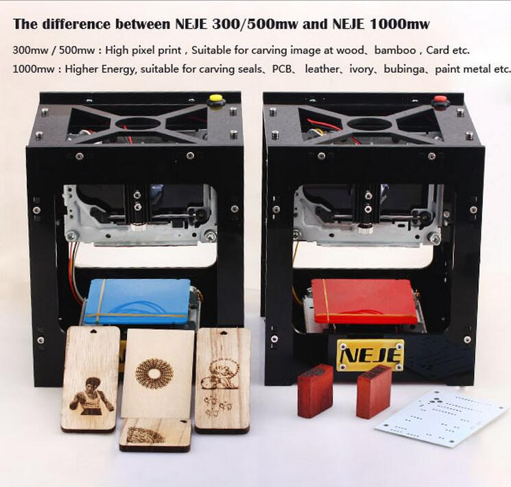 500mW Laser Engraver Printer High Power for Hard Wood / Rubber / Leather / Cut Paper Laser Engraving Machine / DIY Laser Printer 2017 high quality 250mw diy red laser engraving machine kit engraver laser printer