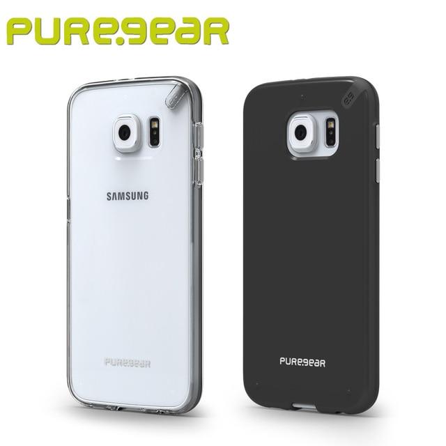 Puregear premium magro shell transparente caso anti choque para samsung galaxy s6 edge com embalagem frete grátis