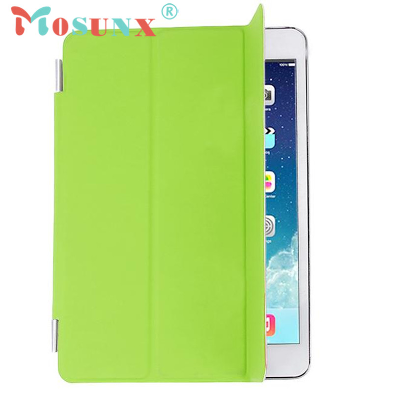 mosunx Hot selling 2015 New Slim Magnetic Leather Smart Cover Sleep Case For iPad mini 4 Retina 1pc