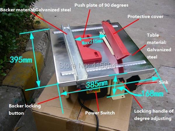 1000W power 7 inch Mini-table Panel Saw, Jade cutting machine, Stone cutting table saw machine