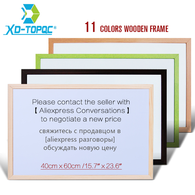 Xindi 40 60cm Whiteboard Wooden Frame Magnetic Dry Erase 11 Colors Bullentin Board Office School