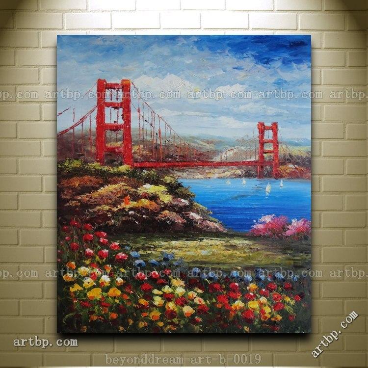 San Francisco Golden Gate Bridge Handpainted Oil Painting