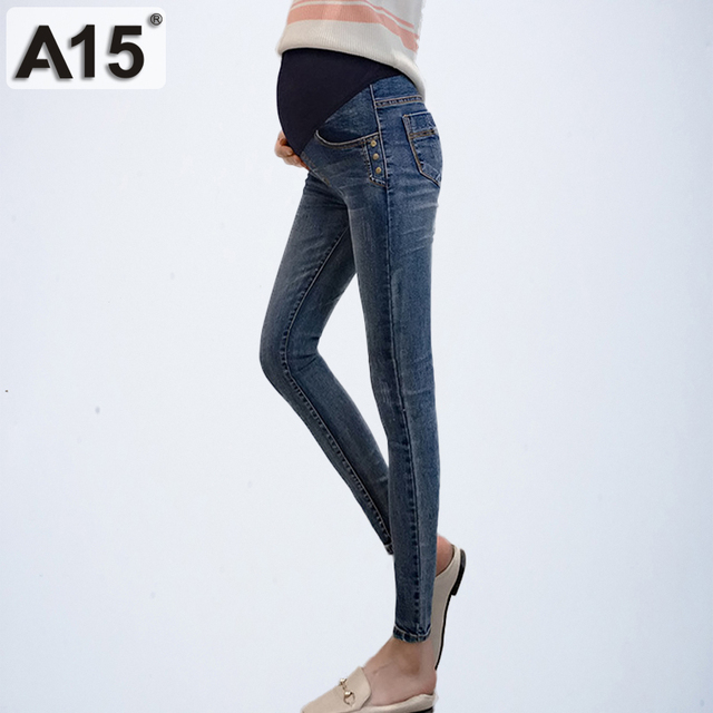 cfff6b8b74631 Maternity Jeans for Pregnant Women Trousers Pregnancy Clothes Maternity  Pants for Pregnant Women Skinny Pencil Pants Pantalones