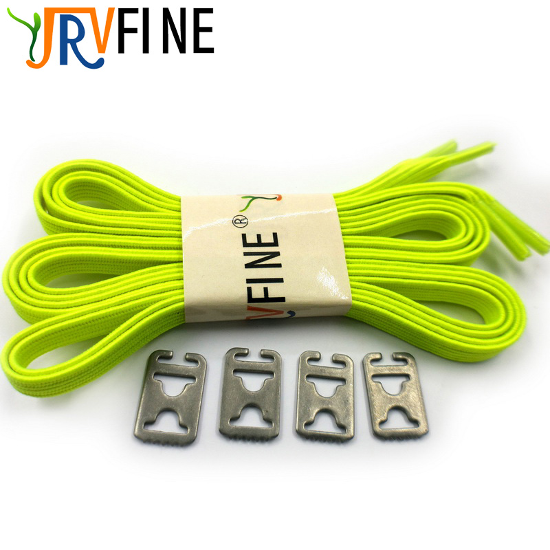 1 Pair Elastic Laces for Shoes Lock Adult Kids All Sneaker No Tie Shoelaces Fluorescent Green Lazy Flat Shoe Laces Strings