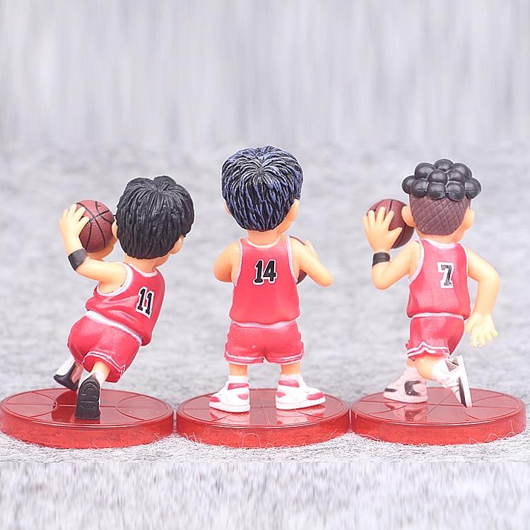 5pcs Lot 8cm Slam Dunk Action Figures Japanese Anime Figure