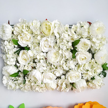 40x60cm Silk Rose Flower Champagne Artificial for Wedding Decoration Wall Romantic Backdrop Decor