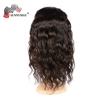 Sunnymay Full Lace Wigs Loose Wave Malaysian Virgin Hair Human Hair Wigs With Baby Hair For Woman