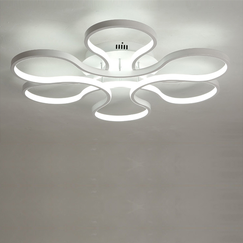 Modern Led Acrylic Ring Ceiling Light With Remote Control For Living Room Master Room Lampara Techo Lustre Fixtures Home Lighti